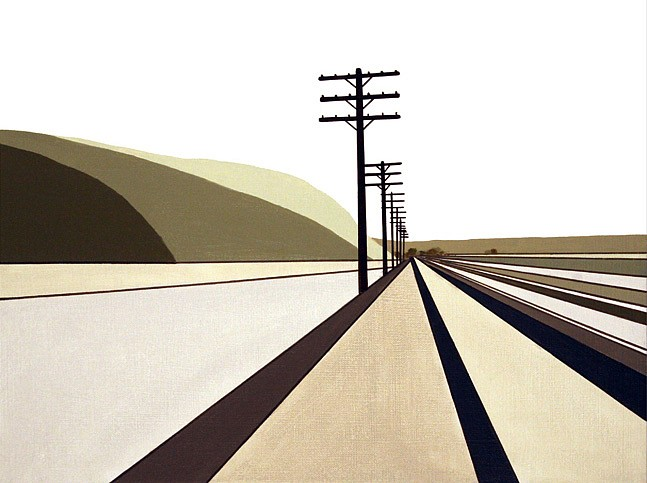 William Steiger ,   Stateline Route  ,  2011     Oil on linen ,  12 x 16 inches (30.5 x 41 cm)