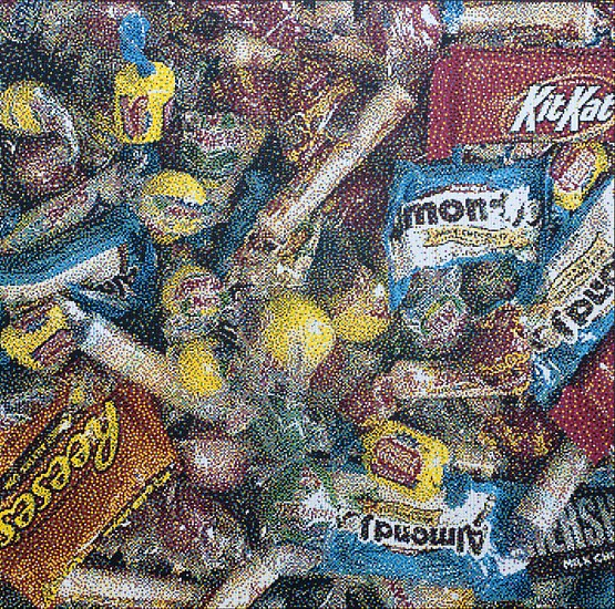 William Betts ,   Candy  ,  2013     Acrylic on canvas ,  48 x 48 inches (122 x 122 cm)