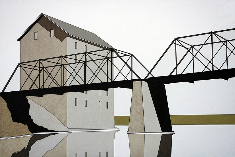 William Steiger ,   Mill Bridge Reflection II  ,  2016     Oil on linen ,  20 x 30 inches (51 x 76 cm)     Sold