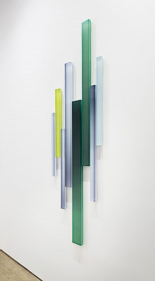 Freddy Chandra ,   Thicket  ,  2016     Acrylic and resin on canvas ,  72 x 20 inches (183 x 51 cm)