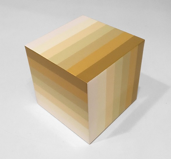 Heidi Spector ,   White Cube      Liquitex with resin on birch panel ,  7 x 7 x 7 (18 x 18 x 18 cm)